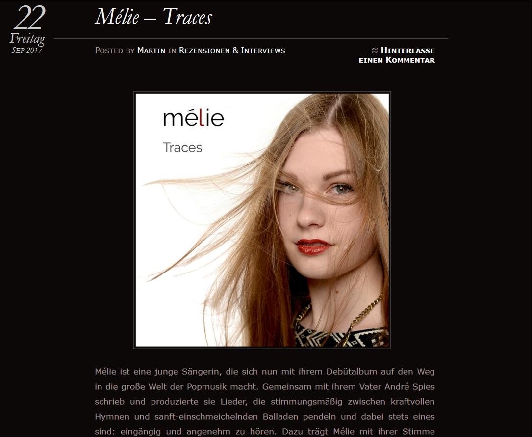 Music review Mélie Traces